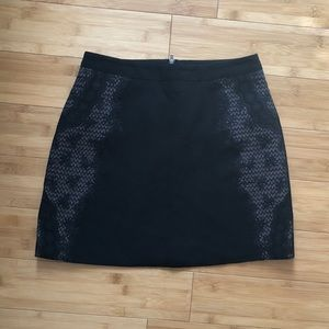 Topshop mini skirt with lace detail